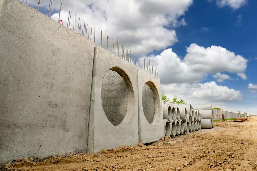 concrete pipe drainage Construction Backgrounds Builder Concrete Concrete Jungle Contractor Drainage Engineering Mail Hole Pipe - Tube Precast Precast Concrete