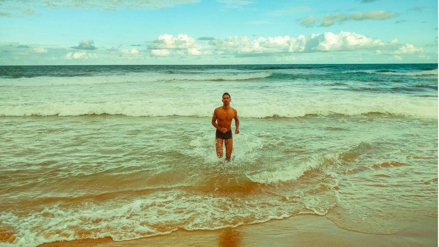 remember vacation... Men Me Myself MYSELFIE Blackman Swiming Bluesky Beach Homo  Amatheur Photography Vacations Salvador Salvador Bahia Férias Ferias2017 Water Sea Men Beach Full Length Sand Sportsman Adventure Shirtless Motion Water Sport