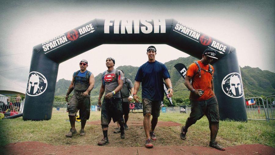 """Finish"" Finish Ocr Spartan Race Spartan Race Hawaii Aroo Kualoaranch Sprint Super Beast"