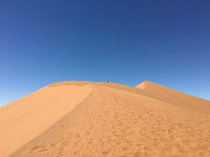 Arid Climate Blue Clear Sky Day Desert Landscape Nature No People Outdoors Pyramid Sand Sand Dune Scenics Sky