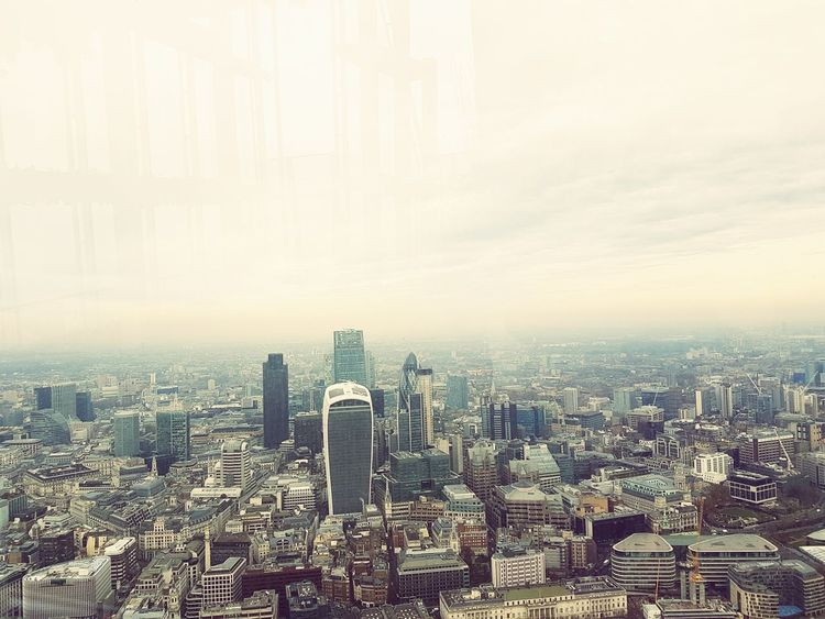 The View from the Shard, London Cityscape Skyscraper City Travel Destinations Building Exterior Fog Urban Skyline Social Issues Outdoors Architecture Business Finance And Industry Downtown District Day No People Sky