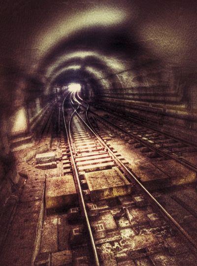 Taking Photos Experimental Ligth And Shadow Rails Subway Subway Photography Metro Photo Tracksaga Lightattheendofthetunnel