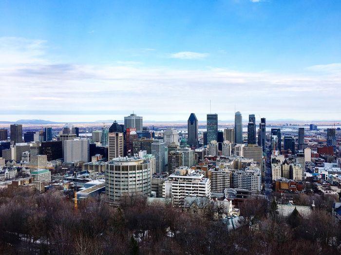 Downtown Skyscraper City Montréal