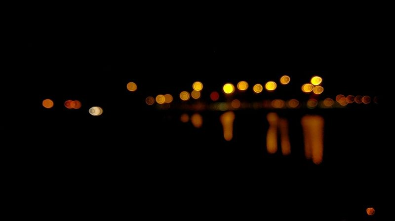 Juffair City Lights Bookeh Illuminated Night Defocused City Dark Glowing Electric Light Outdoors City Life No People Lens Flare Reflection