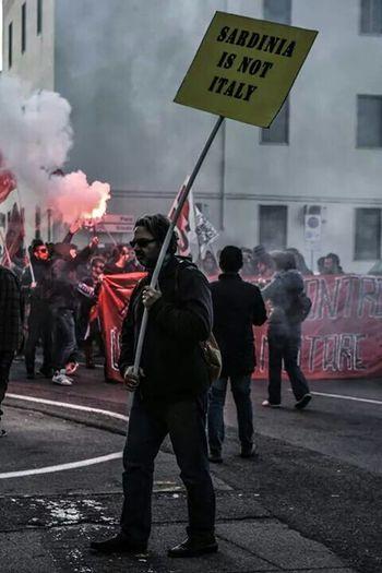 Manifestation Cagliari, Sardinia