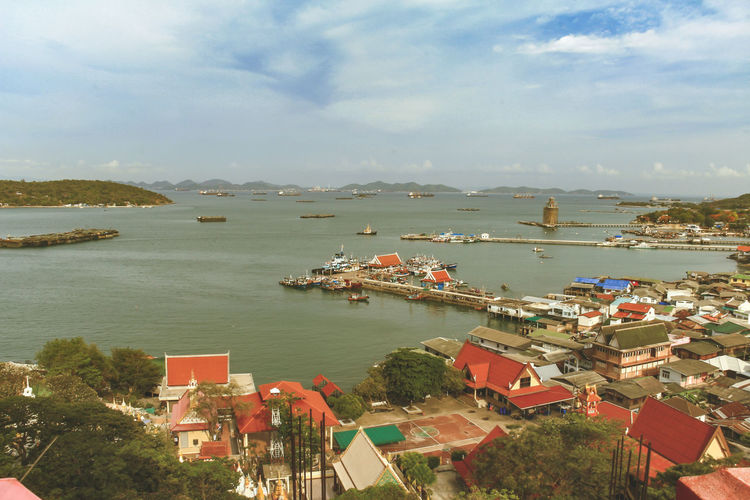 Sichang Island Transportation Sea Outdoors Fishing Port Cityscape Building City