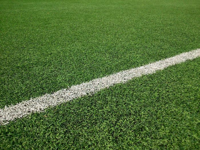 High angle view of markings on playing field