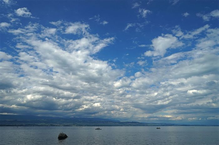 Cloud - Sky Sky Scenics Water Beauty In Nature Tranquility Nature Tranquil Scene No People Outdoors Blue Horizon Over Water Yvoire, France Genfersee Lac Léman Yvoire Landscape Landscape_photography Landscape_Collection EyeEm Best Shots - Landscape Beautiful Beauty
