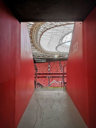 Architecture No People Built Structure Wall - Building Feature Red Indoors  Day The Way Forward Entrance Door Empty