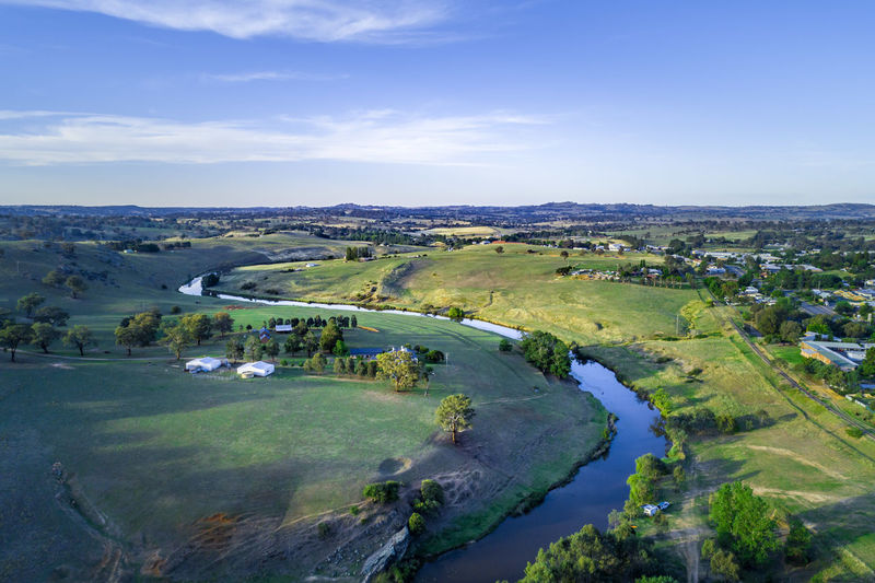 High Up Horizon Landscape New South Wales  Outback Panoramic Sky Travel Locations YASS Yass River Aerial Australia Australian Background Beautiful Countryside Drone  Green Grass Lookout Meadows Nsw Outdoor Panorama Pastures Rural Area Rural Homes Scenic Sunset Travel Travel Destinations View