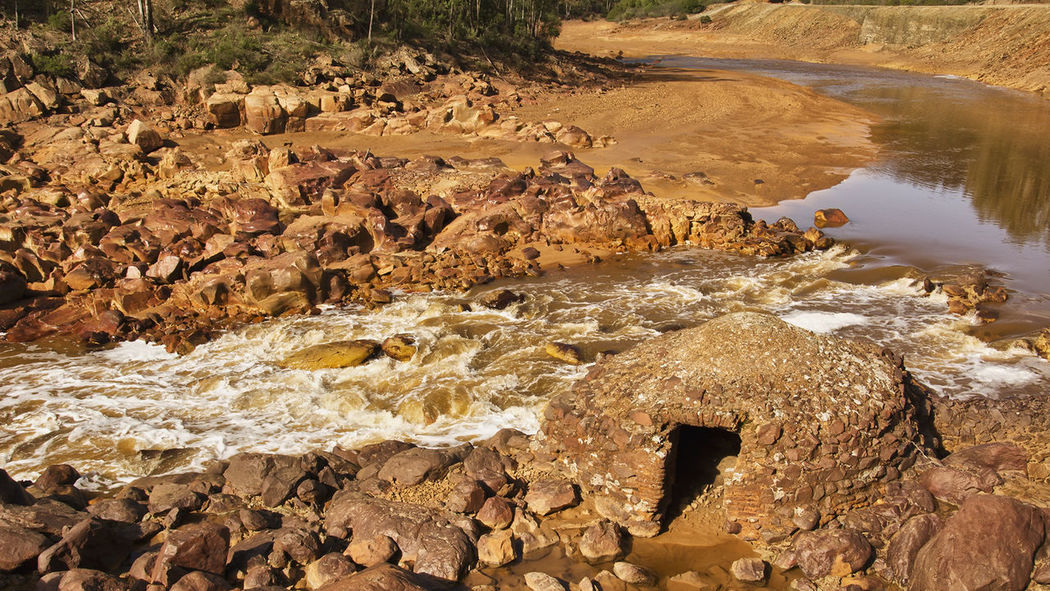 Beauty In Nature Day Molino De Las Cabezuelas Riotinto River Rock - Object Tranquil Scene Water