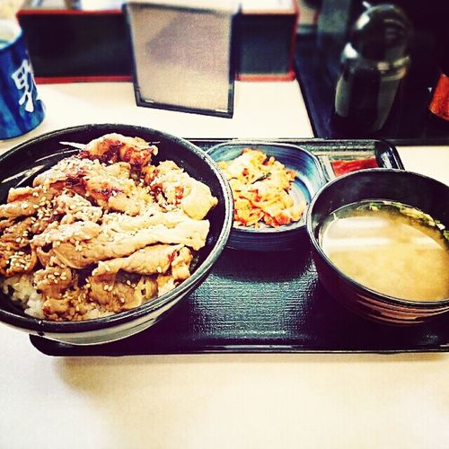 珍しく吉野家のカルビ牛丼(・ω・)。 Eating Japan Japanese Food Beef_boal