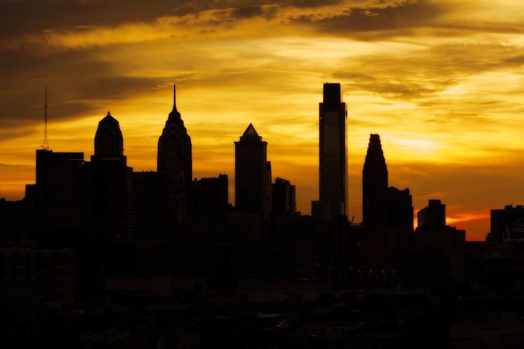 Silhouette Canonphotography Canon Canon5Dmk3 Canon_photos Njphotographer Buildings & Sky Cityscape City Life Philadelphia Cityphotography Phillyprimeshots Skyline Sky_collection Cloud Cloud - Sky Landscape Landscape_photography Outdoors Scenics Sky Check This Out Sunrise_sunsets_aroundworld Colors Orange Color