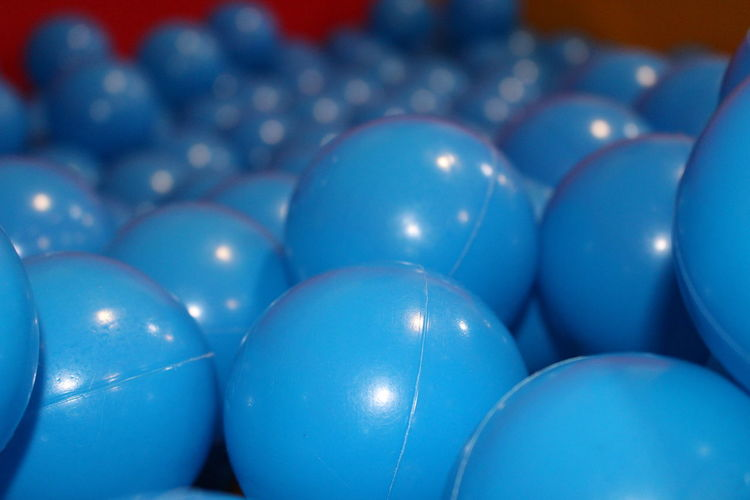 Ball Ball Pit Play Area Blared Background Blue Bounce! Close-up Indoors  No People