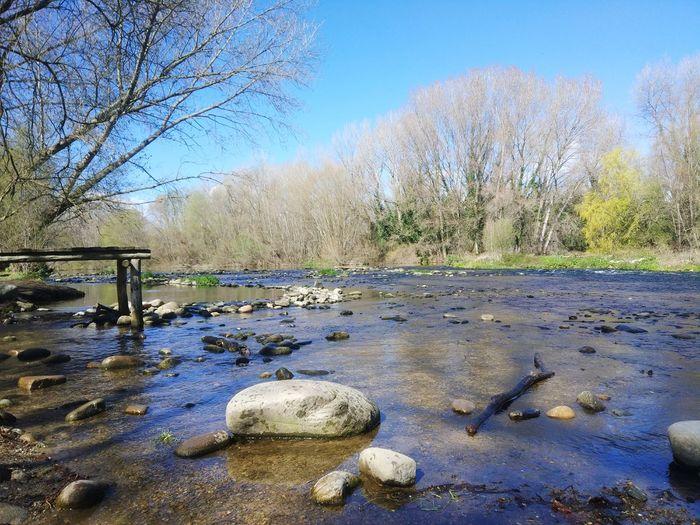 Girona River Riu Aigua Catalunya Salt Pla Dels Socs Sky Calm