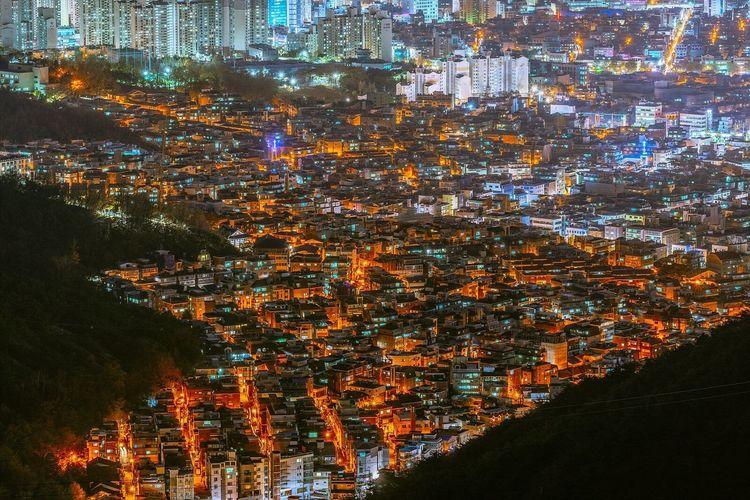 Seoul Korea City Night Landscape Cityscape Night View Nightscape