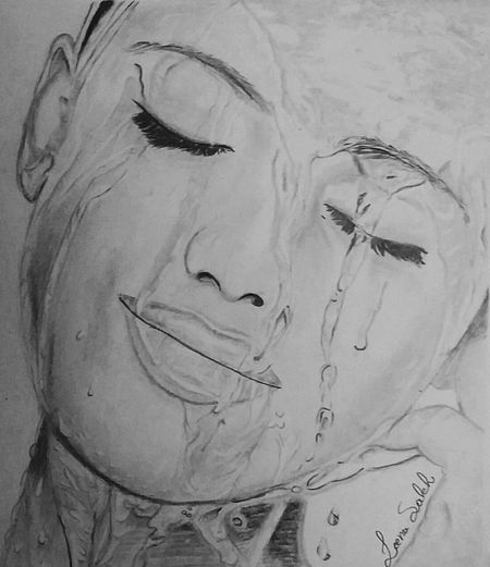 Portrait Portrait Of A Woman Portrait Photography Water Drops Water Drops Sketch Sketching ☺ Face Portrait Face White Sketch Black&white Black&white Portrait My Art Work Myartwork Pencil Pencil Drawing Pencil Sketch  Art Art, Drawing, Creativity Art Gallery Drawing ✏ EyeEm Gallery Eyeem Art Love Drawing ❤
