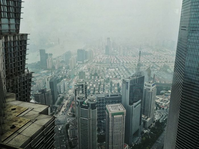View of cityscape seen from jin mao tower