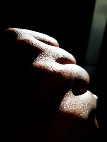 One Person Human Body Part People Close-up Black Background Real People Day Fist Soweto SowetoSouthAfrica Smartphonephotography Johannesburg Smartphone Photos Hand Strength