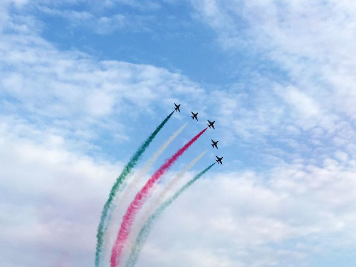 Athens Flying Week. Athens, Greece Airplane Airborne Acrobatics  Colors Sky