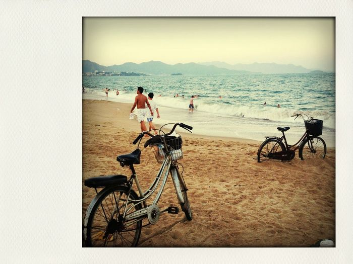 Beachphotography Seaside Beach & Bicycles Capturing Freedom Connected By Travel