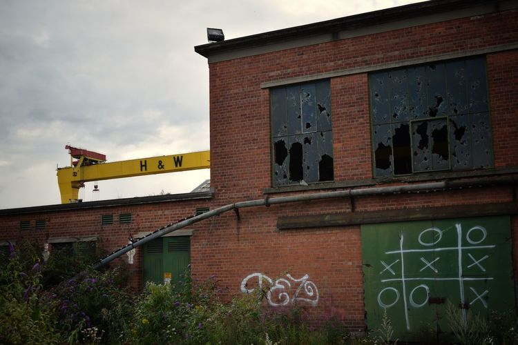 Architecture Building Exterior Built Structure Outdoors No People Day City Sky Belfast Harland&Wolff Belfast Docks Abandoned Factory Abandonedplaces Abandoned & Derelict Abandoned Abandoned Places The Week On EyeEm