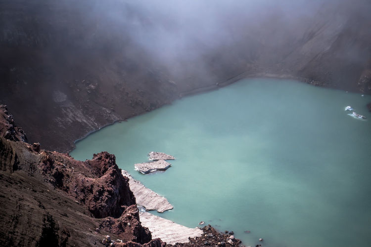 High Angle View Of Lake Against Mountain