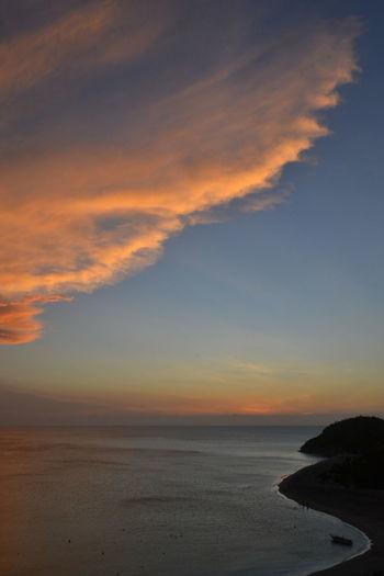 Beach Beauty In Nature Calm Cloud Cloud - Sky Coastline Colombia Dramatic Sky Horizon Over Water Idyllic Majestic Nature Non-urban Scene Ocean Orange Color Scenics Sea Seascape Shore Sky Sunset Tranquil Scene Tranquility Vacations Water
