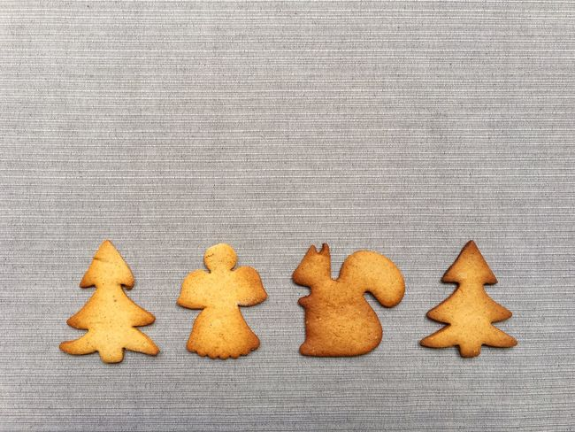 Christmas Cookies Shapes Tree Baked Brown Christmas Cookie Decoration Design Food Food And Drink Freshness Gingerbread Group Of Objects Handmade High Angle View Holiday Homamade In A Row Indoors  No People Shape Star Shape Still Life Sweet Sweet Food Sweets Table Temptation