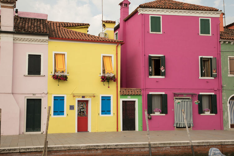 A Day in Burano Architecture Bright Colours Fishing Island House Houses On The Canal Multi Colored No People Outdoors Pink Color Travel Destinations Travel Photography