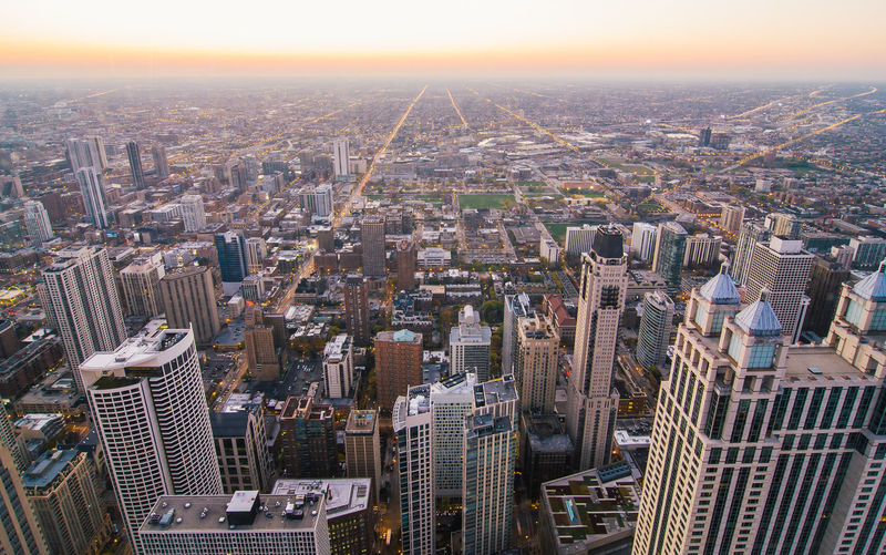 Architecture Building Exterior Built Structure Chicago City Cityscape Horizontal Illinois Outdoors Skyline United States Urban