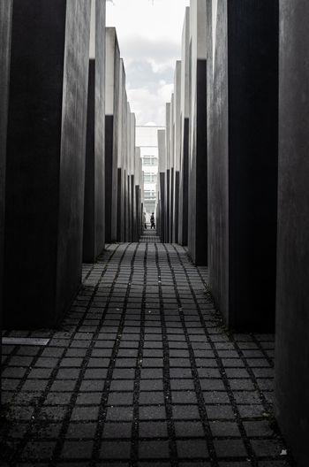Berlin Berlin Love Berlin Photography Dark Jew Jewish Architecture Berlinstagram Blackandwhite Built Structure Concrete Cube Shape Dramatic Holocaust Holocaust Memorial Monument Nature Outdoors