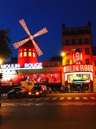 Cityscapes Paris Moulin Rouge 18 Eme France Colors Night Lights Night Nightphotography Streetphotography