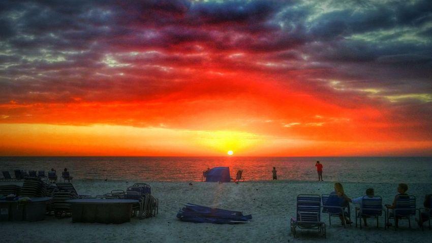 Sunset Colors Landscape Summer Beach Beautiful Nature Ocean Endofday Shadows HDR