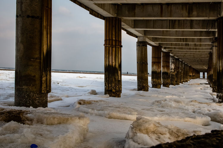 Frozen Hebei Ice Seashore Winter Architecture Beach Beidaihe Built Structure China Cold Temperature Day Nature No People Outdoors Qinhuangdao Sea Seascape Seaside Sky Snow Underneath Water