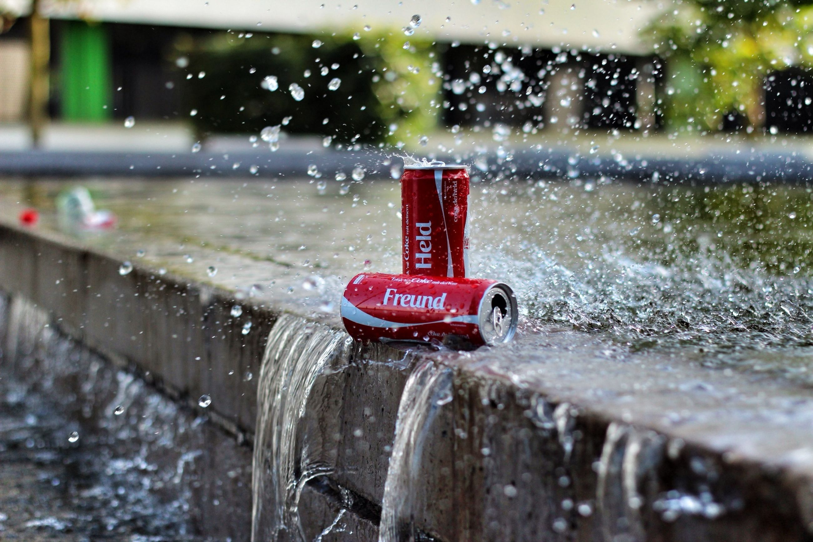water, red, wet, drop, rain, focus on foreground, weather, close-up, transportation, mode of transport, season, land vehicle, monsoon, glass - material, car, day, transparent, protection, motion, safety