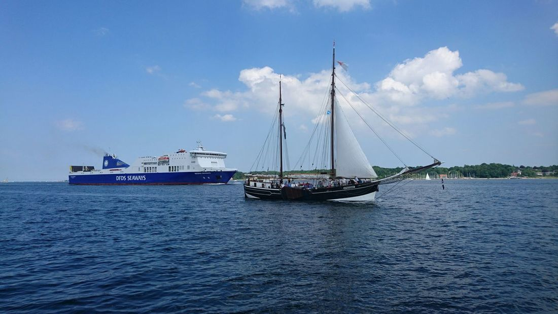 Nord Ostsee Kanal Along The River Nature Nautical Vessel Water Atmospheric River Sailing Ship Fähre Outdoors Sailing Day