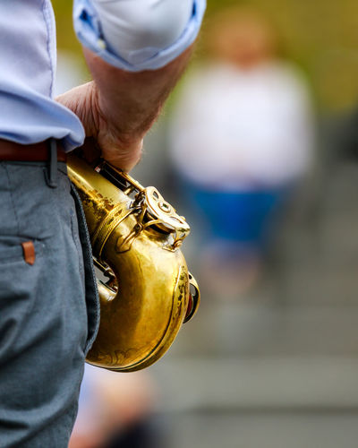 Sax in my hands Saxophone Saxophonist Concert Open Air Focus On Foreground Holding One Person Day Hand Human Hand Music Arts Culture And Entertainment Musical Instrument Close-up Outdoors Standing Jazz Gold Tenor Saxophone Audience Bokeh Lens Blur Blur Blured Background