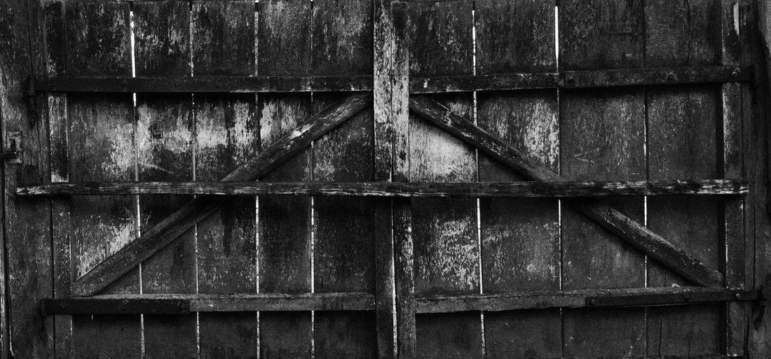 Old Wooden Blackandwhite Gate Wicket
