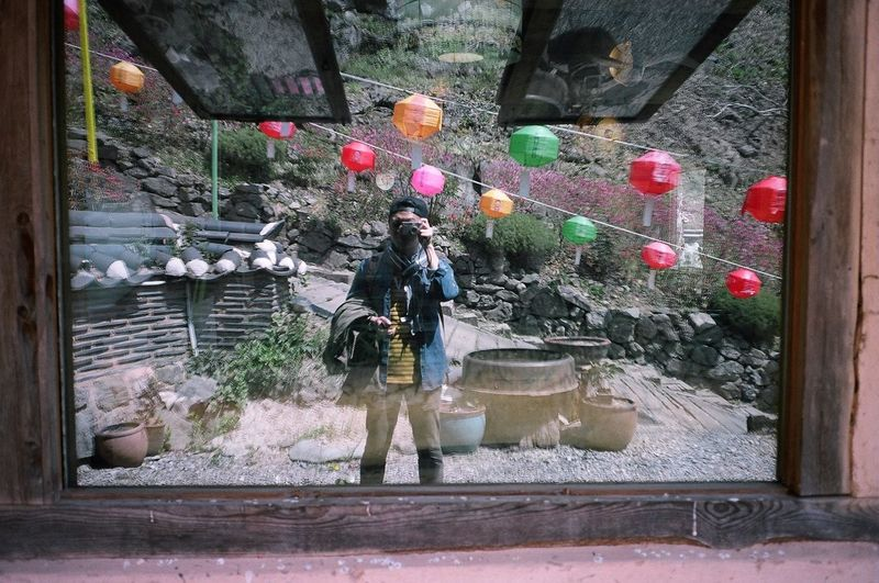 Me, My Camera And I Contax T3 Kodak Portra 35mm Film Film Korea Temples Selfie Mirrorselfie
