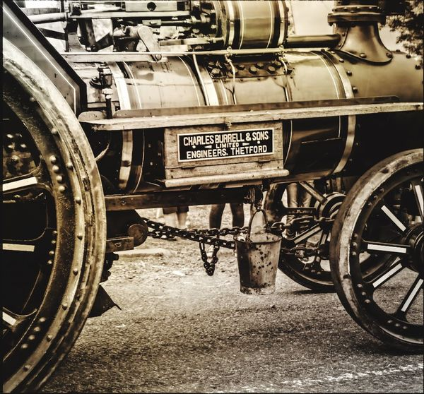 Taking Photos Great Outdoors Ireland Hollywood, Wicklow Vintage Fair Countryside Steam Engine Black & White