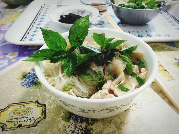 Pho Food Vietnamese Food Basil Ricenoodlebowl Chopsticks EyeEmNewHere Homemade Food Noodles