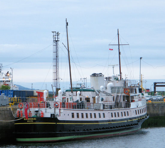 """MV Balmoral as featured in the film """"Another Mother's Son"""" Architecture Balmoral Building Exterior Day Greenock Greenock Waterfront Harbor Heritage M.V. Balmoral Mast Mode Of Transport Moored Nature Nautical Vessel No People Outdoors Retro Sailboat Sea Sky Steamship Transportation Vintage Water Waterfront"""