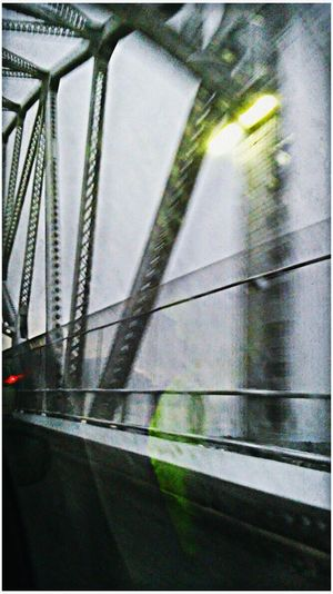 Snow over the bridge Metal No People Abstract Photography My View Artistic Photo Street Photography From My Point Of View Cable Built Structure Snow Day ❄ Winter Wonderland White Artphoto Color Photography