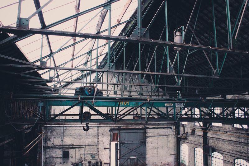 Crane in factory