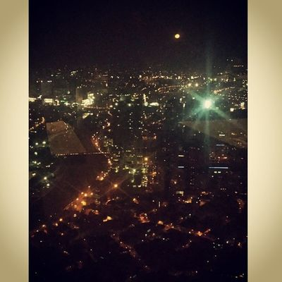 View of mandaluyong and the moon