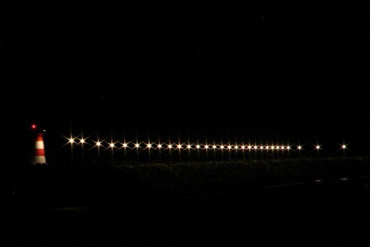 Night Illuminated No People Outdoors Lights Lighthouse Coast Coastline Naval
