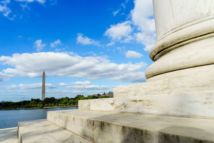 Alrington Architectural Column Architecture Blue Building Exterior Built Structure Cloud Cloud - Sky Concrete Day District Of Columbia Dramatic Angles Fortified Wall Honor Guard International Landmark Memorial Old Guard Outdoors Sightseeing Sky Stone Material Vietnam Trip Washington Washington, D. C. Water