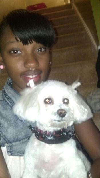 My Beautiful Dog Named Juicy & I.