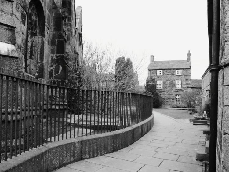 Church Houses Old Architecture England Quaint  Village Life Village Simplicity Happy Valley Landscape EyeEm Best Shots Hebden Bridge Light And Shadow Learn & Shoot: Leading Lines Learn & Shoot: Balancing Elements Pathway Black & White Black And White Monochrome Heptonstall Nature On Your Doorstep Pattern Pieces Path Trees Nature Photography